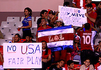 SAN JOSE, COSTA RICA - September 06, 2013: Fans of the Costa Rica MNT during a 2014 World Cup qualifying match against the USA at the National Stadium in San Jose on September 6. USA lost 3-1.