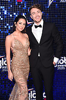 Anne-Sophie Flury and Roman Kemp<br /> arriving for the Global Awards 2020 at the Eventim Apollo Hammersmith, London.<br /> <br /> ©Ash Knotek  D3559 05/03/2020