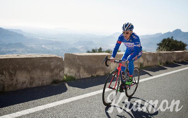 Enrico Gasparotto (ITA/Wanty-Groupe Gobert) up the mountain<br /> <br /> Team Wanty - Groupe Gobert 2015 training camp