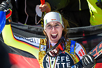 13th February 2021, Cortina, Italy; FIS World Championship Womens Downhill Skiing;  Kira Weidle of Germany siver Medal
