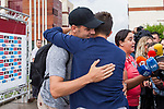Spainsh Alvaro Morata and David Villa arriving at the concentration of the spanish national football team in the city of football of Las Rozas in Madrid, Spain. August 28, 2017. (ALTERPHOTOS/Rodrigo Jimenez)