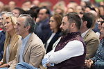 Vox`s politicians Pablo Saez and Santiago Abascal during a meeting with party supporters. October 13,2019. (ALTERPHOTOS/IVAN TOME)