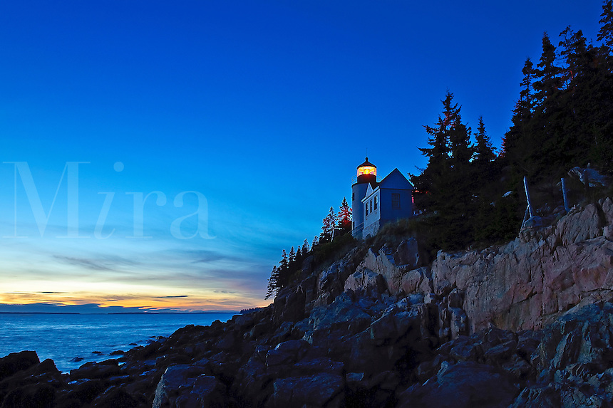 Bass Harbor Light, Tremont, Maine, USA. Circa 1876. National Register of Historic Places