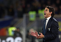 Football, Serie A: S.S. Lazio - Hellas Verona, Olympic stadium, Rome, February 5, 2020. <br /> Lazio's coach Simone Inzaghi speaks to his players during the Italian Serie A football match between S.S. Lazio and Hellas Verona at Rome's Olympic stadium, Rome, on February 5, 2020. <br /> UPDATE IMAGES PRESS/Isabella Bonotto