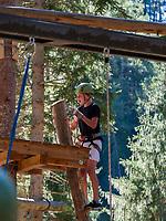 Seilpark Sur En bei Sent, Scuol, Unterengadin, Graubünden, Schweiz, ESeilpark Sur En bei Sent, Scuol, Seilpark Sur En bei Sent, Scuol, Unterengadin, Graubünden, Schweiz, Europa<br /> High rope course Sur En in Sent, Scuol Valley, Engadine, Grisons, Switzerland, Europe<br /> High rope course Sur En in Sent, Scuol Valley, Engadine, Grisons, Switzerland
