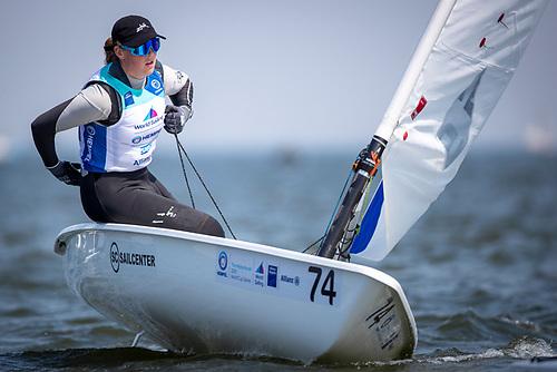 Howth Yacht Club teen Eve McMahon leads the Irish at the Allianz regatta in Holland
