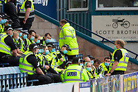 25th September 2021; Dens Park, Dundee, Scotland: Scottish Premiership football, Dundee versus Rangers; Police officers are briefed ahead of the arrival of the fans