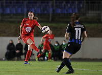 Marie Bougard (10) of Woluwe gives a cross  during a female soccer game between FC Femina White Star Woluwe and Club Brugge YLA on the eleventh matchday of the 2020 - 2021 season of Belgian Scooore Womens Super League , Friday 22 January 2021  in Woluwe , Belgium . PHOTO SPORTPIX.BE   SPP   SEVIL OKTEM