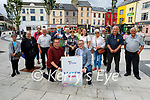 Tralee Chamber Alliance and volunteers launching the Tralee Information Kiosk on Friday. Kneeling: Ken Tobin (CEO of Tralee Chamber of Alliance) and David Scott (Town Co-Ordinator).