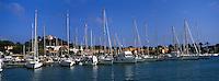 Europe/Provence-Alpes-Côte d'Azur/83/Var/Iles d'Hyères/Ile de Porquerolles: Le village, le port et le Fort Sainte-Agathe