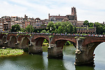 The peloton depart Albi at the start of Stage 11 of the 2019 Tour de France running 167km from Albi to Toulouse, France. 17th July 2019.<br /> Picture: ASO/Alex Broadway   Cyclefile<br /> All photos usage must carry mandatory copyright credit (© Cyclefile   ASO/Alex Broadway)