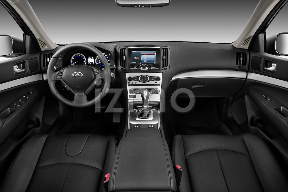 Straight dashboard view of a 2011 Infiniti G25 Journey Sedan