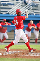 August 3rd 2008:  Shortstop Domnit Bolivar of the Batavia Muckdogs, Class-A affiliate of the St. Louis Cardinals, during a game at Dwyer Stadium in Batavia, NY.  Photo by:  Mike Janes/Four Seam Images