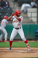 Vancouver Canadians Mc Gregory Contreras (29) at bat during a Northwest League game against the Tri-City Dust Devils at Gesa Stadium on August 21, 2019 in Pasco, Washington. Vancouver defeated Tri-City 1-0. (Zachary Lucy/Four Seam Images)