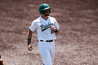 Wright State Raiders right fielder Alec Sayre (18) in action against the Duke Blue Devils in NCAA Regional play on Robert M. Lindsay Field at Lindsey Nelson Stadium on June 5, 2021, in Knoxville, Tennessee. (Danny Parker/Four Seam Images)