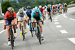 The peleton in action during Stage 7 of the 2018 Criterium du Dauphine 2018 running 136km from Moutiers to Saint Gervais Mont Blanc, France. 10th June 2018.<br /> Picture: ASO/Alex Broadway | Cyclefile<br /> <br /> <br /> All photos usage must carry mandatory copyright credit (© Cyclefile | ASO/Alex Broadway)