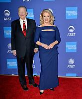 PALM SPRINGS03, 2020: Mary Hart & Burt Sugarman at the 2020 Palm Springs International Film Festival Film Awards Gala.<br /> Picture: Paul Smith/Featureflash