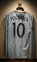 Kansas City, KS - Wednesday September 20, 2017: Benny Feilhaber and Sporting Kansas City locker room during the 2017 U.S. Open Cup Final Championship game between Sporting Kansas City and the New York Red Bulls at Children's Mercy Park.