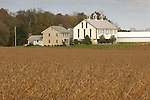Barn and farmhouse in fall, Union County