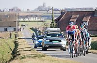 Mathieu Van der Poel (NED/Alpecin-Fenix) now leading the breakaway group<br /> <br /> 73rd Kuurne - Brussels - Kuurne 2021<br /> ME (1.Pro)<br /> 1 day race from Kuurne to Kuurne (BEL/197km)<br /> <br /> ©kramon