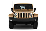 Car photography straight front view of a 2016 JEEP Wrangler Sahara 5 Door SUV Front View