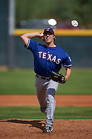 Texas Rangers pitcher Tyler Ferguson (86) during an instructional league game against the Arizona Diamondbacks on October 10, 2015 at the Salt River Fields at Talking Stick in Scottsdale, Arizona.  (Mike Janes/Four Seam Images)