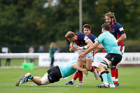 Charlie Ingall of London Scottish in action during the Championship Cup match between London Scottish Football Club and Nottingham Rugby at Richmond Athletic Ground, Richmond, United Kingdom on 28 September 2019. Photo by Carlton Myrie / PRiME Media Images
