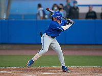 Jesuit Tigers Nick Rodriguez (33) bats during a game against the IMG Academy Ascenders on April 21, 2021 at IMG Academy in Bradenton, Florida.  (Mike Janes/Four Seam Images)