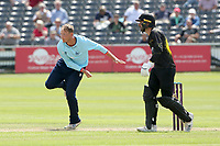 Tom Westley in bowling action for Essex during Gloucestershire vs Essex Eagles, Royal London One-Day Cup Cricket at the Bristol County Ground on 3rd August 2021