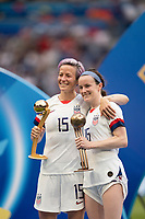 LYON, FRANCE - JULY 07: Megan Rapinoe and Rose Lavelle during a game between Netherlands and USWNT at Stade de Lyon on July 07, 2019 in Lyon, France.