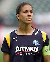 LA Sol midfielder Shannon Boxx. The LA Sol defeated the Washington Freedom 2-0 in the opening game of Womens Professional Soccer at Home Depot Center stadium on Sunday March 29, 2009.  .Photo by Michael Janosz