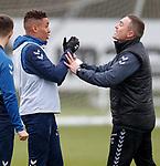 05.02.2019: Rangers training: James Tavernier and Tom Culshaw