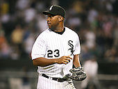 Jermaine Dye of the Chicago White Sox vs. the Florida Marlins: June 19th, 2007 at Wrigley Field in Chicago, IL.  Photo copyright Mike Janes Photography 2007.