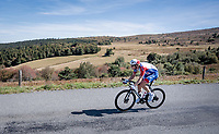 race leader Stefan Küng (SUI/Groupama-FDJ) descending the Col du Béal<br /> <br /> Stage 14 from Clermont-Ferrand to Lyon (194km)<br /> <br /> 107th Tour de France 2020 (2.UWT)<br /> (the 'postponed edition' held in september)<br /> <br /> ©kramon