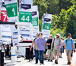 SALISBURY, CT. - 17 July 2021-071721SV12-Fans check out the race teams during the IMSA Northeast Grand Prix event at Lime Rock Park in Lakeville Saturday.  <br /> Steven Valenti Republican-American