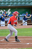 Mark Shannon (41) of the Orem Owlz at bat against the Ogden Raptors at Lindquist Field on August 28, 2013 in Ogden Utah.  (Stephen Smith/Four Seam Images)