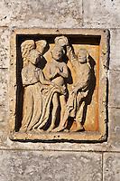 Europe/France/Aquitaine/24/Dordogne/Brantome: Bas-relief baptême du Christ à, l'intérieur de l'abbaye Saint-Pierre de Brantôme