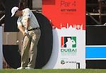 Padraig Harrington tees off on the 5th tee during  Day 2 at the Dubai World Championship Golf in Jumeirah, Earth Course, Golf Estates, Dubai  UAE, 20th November 2009 (Photo by Eoin Clarke/GOLFFILE)