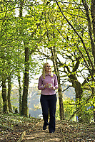 DS Smith Packaging, Crumlin, Newport, which has won a Green Space Business Award.<br />  Laura Morgan, Area Sales Manager, enjoys a walk down the woodland path during her lunch break.
