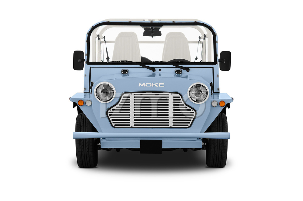 Car photography straight front view of a 2019 Moke America eMoke Base 5 Door SUV