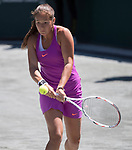 April 7,2017:  Daria Kasatkina (RUS) defeated Irina-Camelia Begu (ROM) 6-4, 6-1, at the Volvo Car Open being played at Family Circle Tennis Center in Charleston, South Carolina.  ©Leslie Billman/Tennisclix/Cal Sport Media