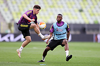 25th May 2021; Gdansk, Poland; Manchester United training at the Stadion Energa Gdańsk prior to their Europa League final versus Villarreal on May 26th;  DANIEL JAMES and AARON WAN-BISSAKA