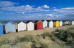 Grossbritannien, England, Suffolk, Southwold: Strandhaeuschen | Great Britain, England, Suffolk, Southwold: beach huts