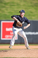 Matt Favero (27) of James Madison High School in Vienna, Virginia playing for the New York Yankees scout team at the South Atlantic Border Battle at Doak Field on November 2, 2014.  (Brian Westerholt/Four Seam Images)