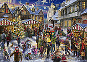 Marcello, CHRISTMAS LANDSCAPES, WEIHNACHTEN WINTERLANDSCHAFTEN, NAVIDAD PAISAJES DE INVIERNO, paintings+++++,ITMCXM2061,#XL# ,puzzle ,marketplace