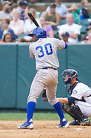 Christian Cano (30) of the Burlington Royals at bat against the Pulaski Mariners at Calfee Park on June 20, 2014 in Pulaski, Virginia.  The Mariners defeated the Royals 6-4. (Brian Westerholt/Four Seam Images)