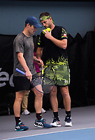 Men's Doubles final - Finn Tearney and Michael Venus (pictured) v Reece Falck and Ajeet Rai. 2020 New Zealand Championships Wellington Tennis Open finals at Renouf Centre in Wellington, New Zealand on Sunday, 20 December 2020. Photo: Dave Lintott / lintottphoto.co.nz