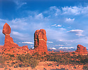 BALANCED ROCK AND THE LA SAL MOUNTAINS<br /> ARCHES NATIONAL PARK, UTAH