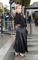 October 1 2017, PARIS FRANCE the l'Oreal Show at the Paris Fashion Week<br /> Spring Summer 2017:2018. Model Jasmine Sanders arrives at the show.