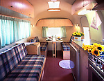 Interior of a 1964 Airstream Globe Trotter.